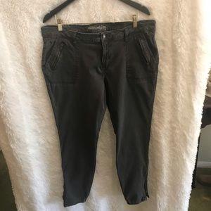 Old Navy Rockstar Jeans Olive Green Skinny 18